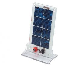 Low voltage solar panel 200mA @ 2.5V with stand and screw termin