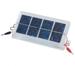Low voltage solar panel  350mA @ 2V with stand and pin terminals