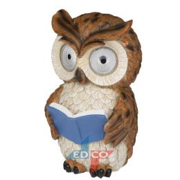 905426 large owl reading blue book