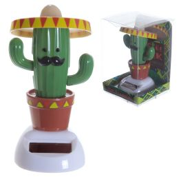 Fun Collectable Cactus wearing Sombrero Solar Powered Pal