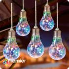 Battery Operated LED Bulb Multi-Coloured Lights - Timer - 5pcs