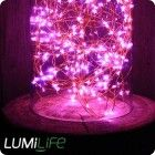LED Pink Festive String Lights (180pcs) - In & Outdoor - 1.8m