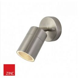 Adjustable Spotlight Wall Fixture - Stainless Steel Finish