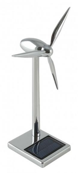 Mini Solar powered Aluminum wind turbine with USB