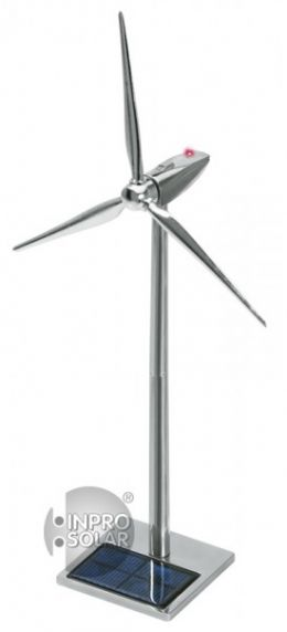 Solar Powered Aluminum Wind Turbine with LED+USB