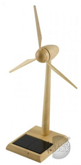 Wooden Solar Wind Turbine