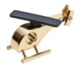 Gold-plated solar helicopter