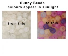 UV Colour changing Sunny Beads (mixed colours)